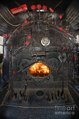 Illinois Central Railroad Photograph - Steam Locomotive Fire Tube Firebox by Gary Keesler