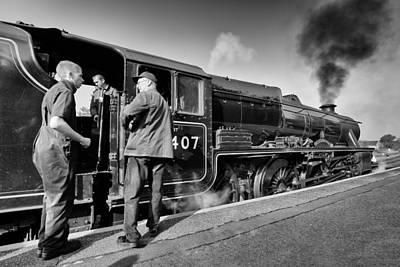Photograph - Steam Locomotive by Grant Glendinning