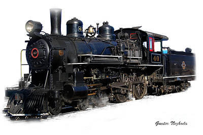 Photograph - Steam Locomotive by Gunter Nezhoda