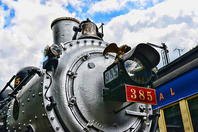 Steam Locomotive No. 385 Art Print