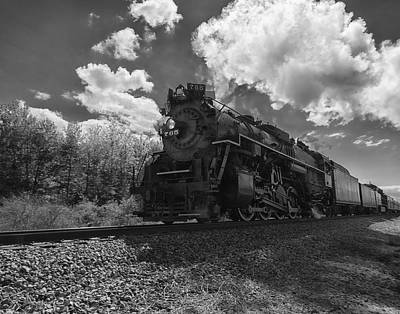 Steam Locomotive Passing Through Art Print