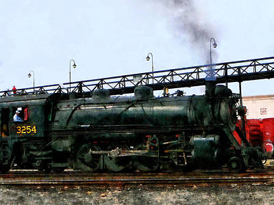 Railroads Photograph - Steam Locomotive by Susan Savad
