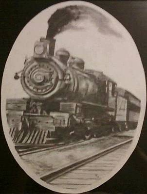 Drawing - Steam Locomotive by Thomasina Durkay