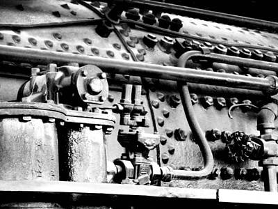 Rivets Photograph - Steam Locomotive Train Detail II by Karyn Robinson