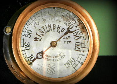 Steampunk Royalty-Free and Rights-Managed Images - Steam Locomotive Train Gauge by Karyn Robinson
