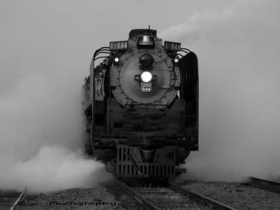 Photograph - Steam Locomotive Up844 by Lawrence Scott