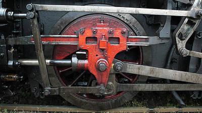 Steam Locomotive Wheel Art Print by Walter Novak