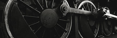 Steam Locomotive Wheels Art Print by Panoramic Images