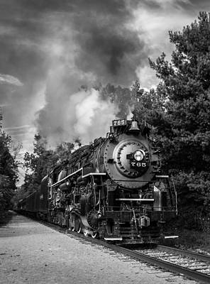 Steam On The Rails Art Print