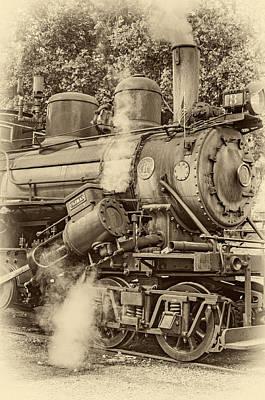 Steam Engine Photograph - Steam Power Sepia Vignette by Steve Harrington