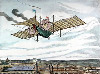 Steam-powered Flying Machine Art Print by Universal History Archive/uig
