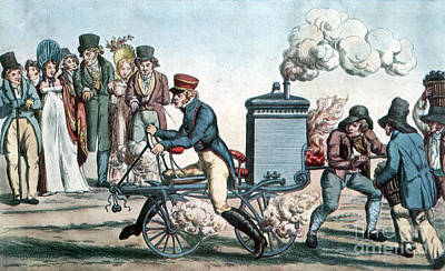 Photograph - Steam Powered Motorcycle Velocipede 1818 by Science Source