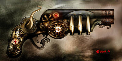 Steam Punk Pistol Mk II Art Print