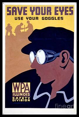 Steam Punk Photograph - Steam Punk Wpa Vintage Safety Poster by Edward Fielding
