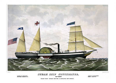 Steam Ship Southerner Art Print