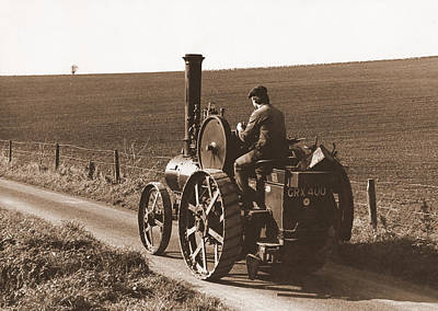Photograph - Steam Tractor by Guy Pettingell