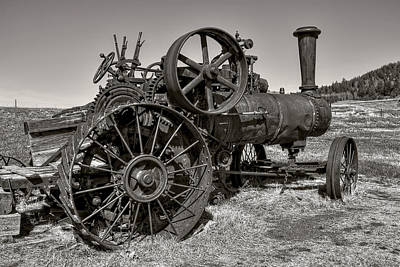 Iowa Farm Photograph - Steam Tractor - Molson Ghost Town by Daniel Hagerman
