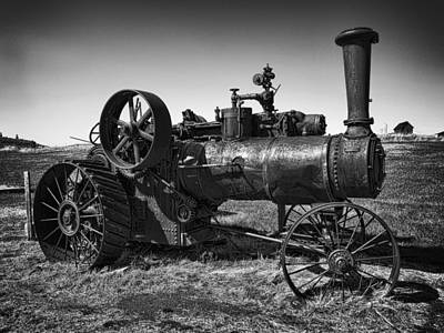 Steam Tractor Noir Art Print by Daniel Hagerman