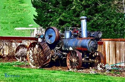 Photograph - Antique Steam Tractor by Sadie Reneau