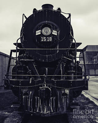 Steam Train 1518 In Black And White Art Print by Emily Kay