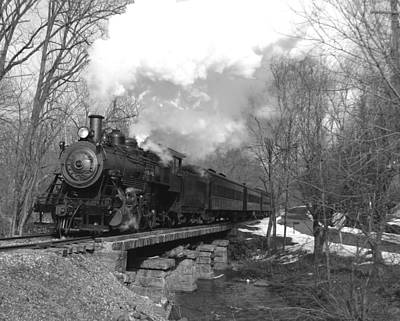 Photograph - Steam Train 2 Bw by Joseph C Hinson Photography