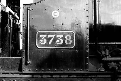 Photograph - Steam Train 3738 by Ken Brannen