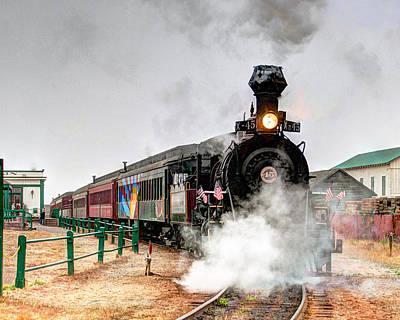 Photograph - Steam Train 45 by William Havle