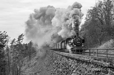 Train Photograph - Steam Train At The Schiefe Ebene  by Christian Spiller