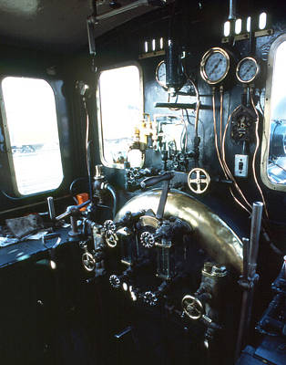 Photograph - Steam Train Engine Compartment by Robert  Rodvik