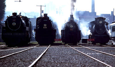Photograph - Steam Train Gathering by Robert  Rodvik
