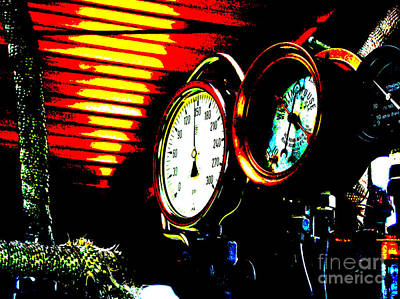 Photograph - Steam Train Gauges Poster by R Muirhead Art