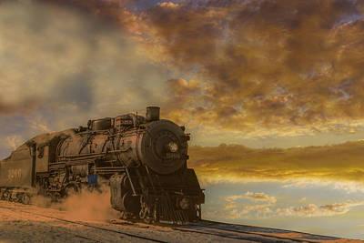 Steam Train Morning Art Print