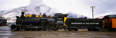 Steam Train On Railroad Track, Durango Art Print by Panoramic Images