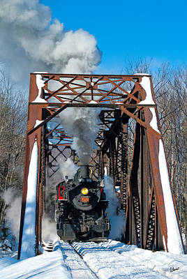 Photograph - Steam Train Over A Trestle by Alana Ranney