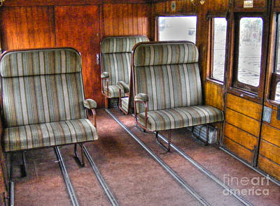 Photograph - Steam Train Seats by Nina Ficur Feenan