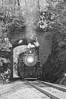 Steam Train Tunnel Art Print