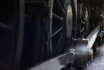 Photograph - Steam Train Wheels And Pushrod by Ken Brannen