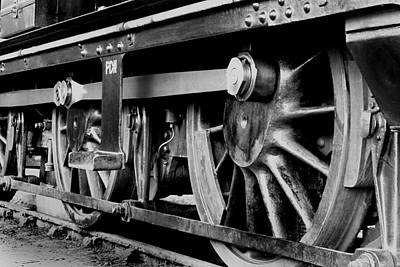 Photograph - Steam Train Wheels by Ken Brannen