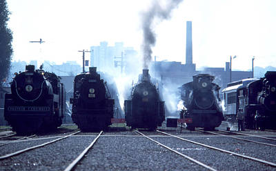Photograph - Steam Trains - 5 Aside by Robert  Rodvik