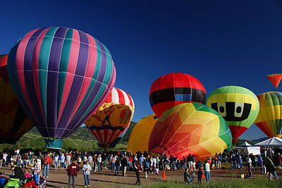 Rocky Mountain Photograph - Steamboat Balloon Rising  by Michael J Bauer