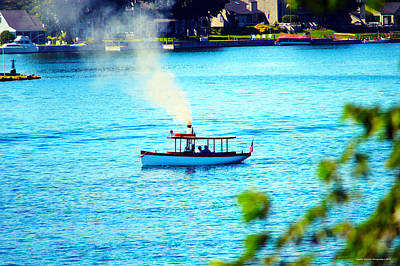 Steamboat On St. Lawrence River Art Print by Timothy Thornton