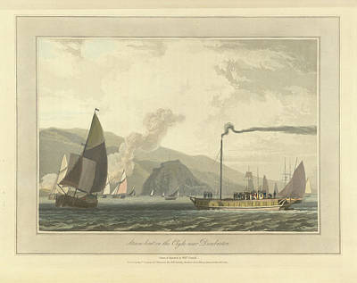 Steamboat On The River Clyde Art Print by British Library