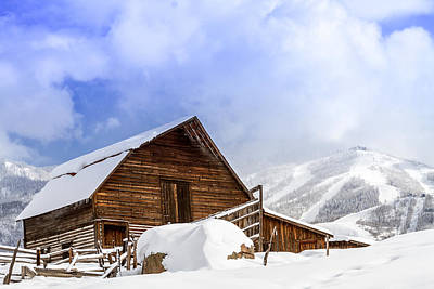 Steamboat Springs Barn And Ski Area Art Print