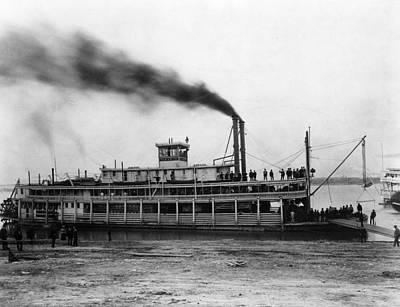 Evansville Photograph - Steamboat Tarascon, C1870 by Granger
