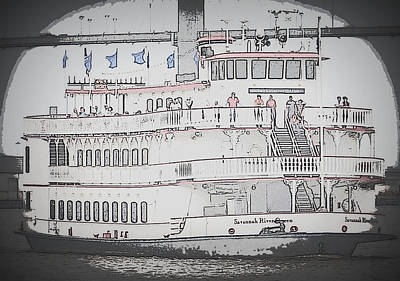 Steamboating In Savannah Original by Laurie Pike