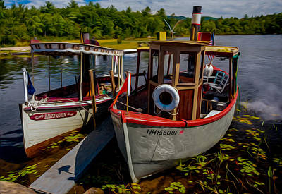 Steamboats On The Lake Art Print