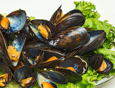 Photograph - Steamed Mussels by Marek Poplawski