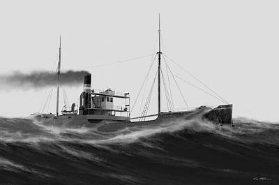 Steamer Leafield Art Print by Captain Bud Robinson