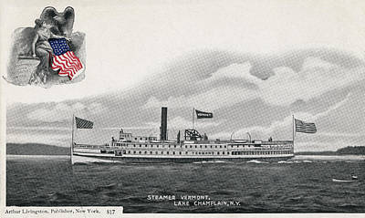 Photograph - Steamer Vermont, C1905 by Granger