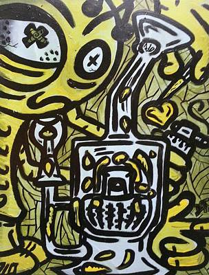 Steamin Beeman Deemon Art Print by Deemon Picasso